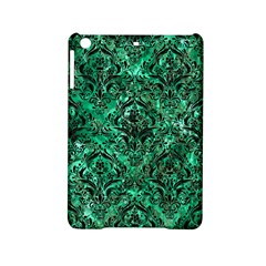 Damask1 Black Marble & Green Marble (r) Apple Ipad Mini 2 Hardshell Case by trendistuff