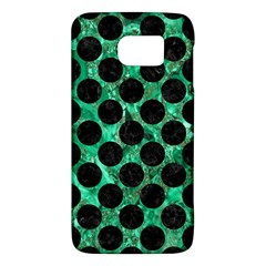 Circles2 Black Marble & Green Marble Samsung Galaxy S6 Hardshell Case