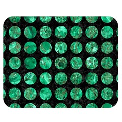 Circles1 Black Marble & Green Marble (r) Double Sided Flano Blanket (medium) by trendistuff