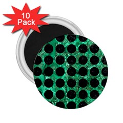 Circles1 Black Marble & Green Marble 2 25  Magnet (10 Pack) by trendistuff