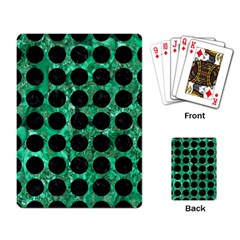 Circles1 Black Marble & Green Marble Playing Cards Single Design by trendistuff