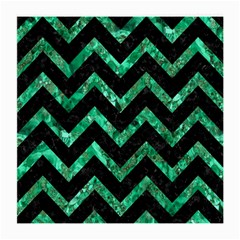 Chevron9 Black Marble & Green Marble Medium Glasses Cloth (2 Sides) by trendistuff
