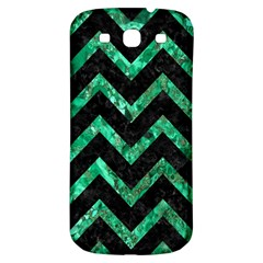 Chevron9 Black Marble & Green Marble Samsung Galaxy S3 S Iii Classic Hardshell Back Case by trendistuff