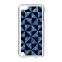 Triangle1 Black Marble & Blue Marble Apple Ipod Touch 5 Case (white) by trendistuff