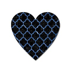 Tile1 Black Marble & Blue Marble (r) Magnet (heart) by trendistuff
