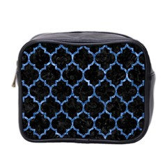 Tile1 Black Marble & Blue Marble (r) Mini Toiletries Bag (two Sides) by trendistuff