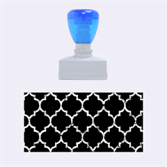 Tile1 Black Marble & Blue Marble (r) Rubber Stamp (medium) by trendistuff