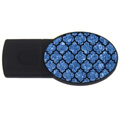Tile1 Black Marble & Blue Marble Usb Flash Drive Oval (2 Gb) by trendistuff