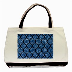 Tile1 Black Marble & Blue Marble Basic Tote Bag (two Sides) by trendistuff