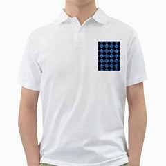 Square2 Black Marble & Blue Marble Golf Shirt by trendistuff