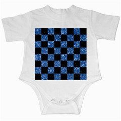 Square1 Black Marble & Blue Marble Infant Creeper by trendistuff