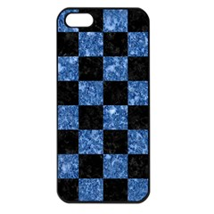 Square1 Black Marble & Blue Marble Apple Iphone 5 Seamless Case (black) by trendistuff