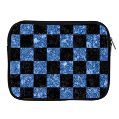 Square1 Black Marble & Blue Marble Apple Ipad Zipper Case by trendistuff