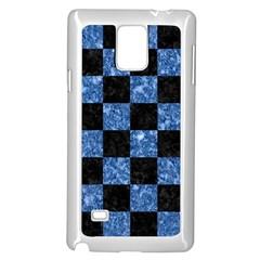 SQR1 BK-BL MARBLE Samsung Galaxy Note 4 Case (White) by trendistuff