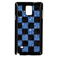 Square1 Black Marble & Blue Marble Samsung Galaxy Note 4 Case (black) by trendistuff