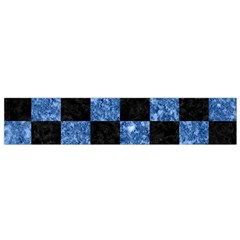 Square1 Black Marble & Blue Marble Flano Scarf (small) by trendistuff