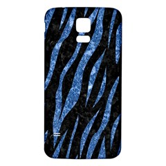 Skin3 Black Marble & Blue Marble (r) Samsung Galaxy S5 Back Case (white) by trendistuff