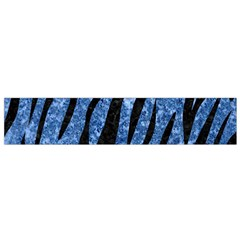 Skin3 Black Marble & Blue Marble Flano Scarf (small) by trendistuff
