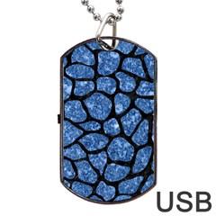 SKN1 BK-BL MARBLE (R) Dog Tag USB Flash (One Side) by trendistuff