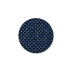 Scales3 Black Marble & Blue Marble (r) Golf Ball Marker by trendistuff