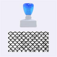 Scales1 Black Marble & Blue Marble Rubber Stamp (medium) by trendistuff