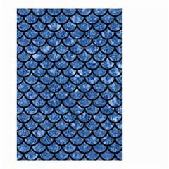 Scales1 Black Marble & Blue Marble Small Garden Flag (two Sides) by trendistuff