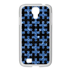 Puzzle1 Black Marble & Blue Marble Samsung Galaxy S4 I9500/ I9505 Case (white) by trendistuff