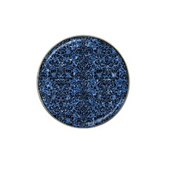 Damask2 Black Marble & Blue Marble Hat Clip Ball Marker by trendistuff