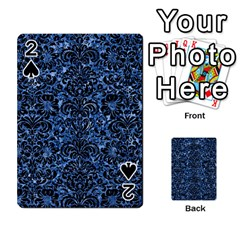 Damask2 Black Marble & Blue Marble Playing Cards 54 Designs by trendistuff