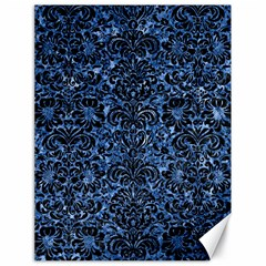 Damask2 Black Marble & Blue Marble Canvas 18  X 24  by trendistuff