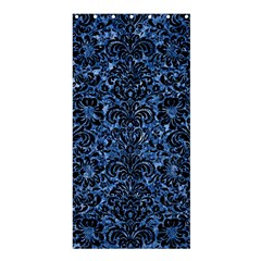 Damask2 Black Marble & Blue Marble Shower Curtain 36  X 72  (stall) by trendistuff