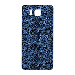 Damask2 Black Marble & Blue Marble Samsung Galaxy Alpha Hardshell Back Case by trendistuff