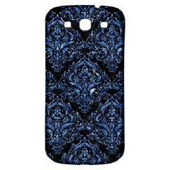 Damask1 Black Marble & Blue Marble Samsung Galaxy S3 S Iii Classic Hardshell Back Case by trendistuff