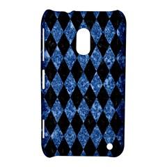 Diamond1 Black Marble & Blue Marble Nokia Lumia 620 Hardshell Case by trendistuff