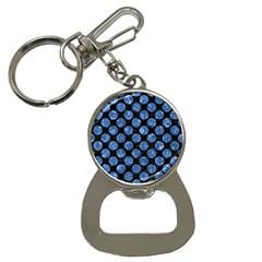 Circles2 Black Marble & Blue Marble (r) Bottle Opener Key Chain by trendistuff