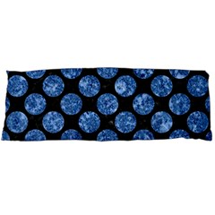 Circles2 Black Marble & Blue Marble (r) Body Pillow Case Dakimakura (two Sides) by trendistuff