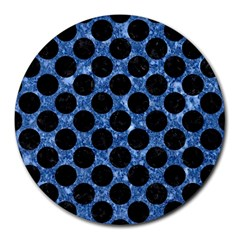 CIR2 BK-BL MARBLE Round Mousepads by trendistuff