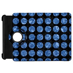 Circles1 Black Marble & Blue Marble (r) Kindle Fire Hd Flip 360 Case by trendistuff