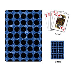 Circles1 Black Marble & Blue Marble Playing Cards Single Design by trendistuff