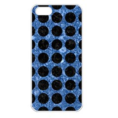 Circles1 Black Marble & Blue Marble Apple Iphone 5 Seamless Case (white) by trendistuff