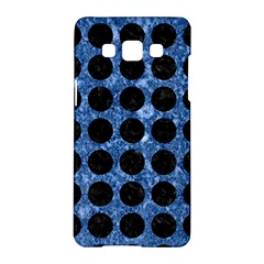 Circles1 Black Marble & Blue Marble Samsung Galaxy A5 Hardshell Case  by trendistuff