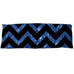 Chevron9 Black Marble & Blue Marble Body Pillow Case (dakimakura)