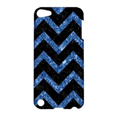 Chevron9 Black Marble & Blue Marble Apple Ipod Touch 5 Hardshell Case by trendistuff