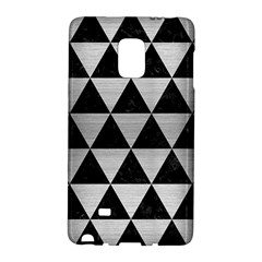 Triangle3 Black Marble & Silver Brushed Metal Samsung Galaxy Note Edge Hardshell Case by trendistuff