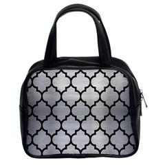 Tile1 Black Marble & Silver Brushed Metal (r) Classic Handbag (two Sides) by trendistuff