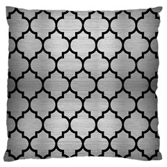 Tile1 Black Marble & Silver Brushed Metal (r) Standard Flano Cushion Case (one Side) by trendistuff