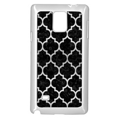 Tile1 Black Marble & Silver Brushed Metal Samsung Galaxy Note 4 Case (white) by trendistuff