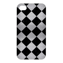 Square2 Black Marble & Silver Brushed Metal Apple Iphone 4/4s Hardshell Case by trendistuff