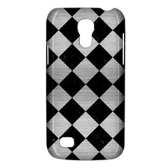 Square2 Black Marble & Silver Brushed Metal Samsung Galaxy S4 Mini (gt I9190) Hardshell Case  by trendistuff