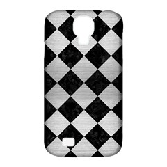Square2 Black Marble & Silver Brushed Metal Samsung Galaxy S4 Classic Hardshell Case (pc+silicone) by trendistuff